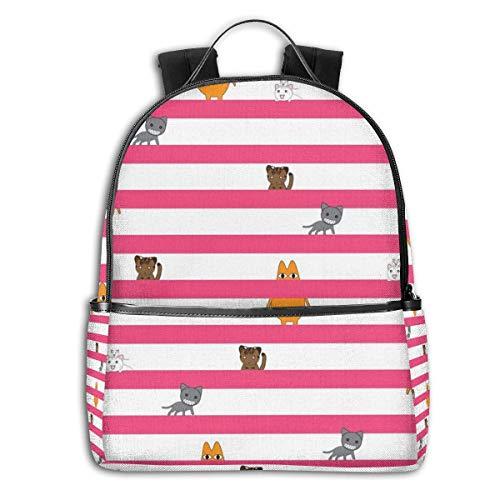 Azumanga Daioh CatsMulti-Functional College Bags Students Casual Daypack Mochila de Viaje Escuela...