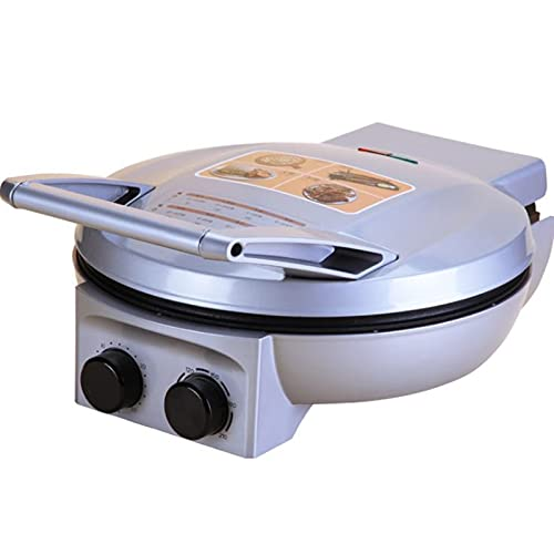 SDFD Máquina eléctrica de Pizza eléctrica, calefacción rápida de Doble Cara y Cacerola eléctrica Ajustable a Temperatura, Adecuada para panqueques domésticos