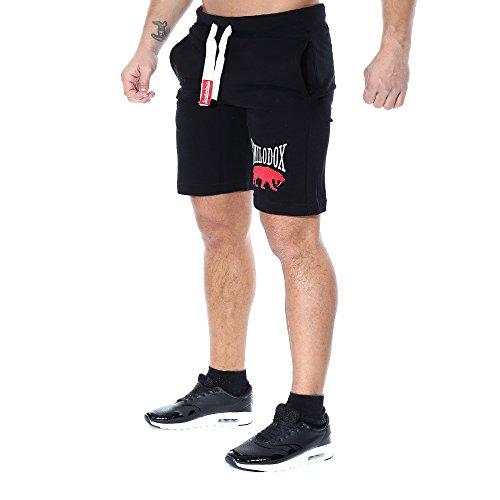 SMILODOX Herren Shorts 'Classic' | Kurze Hosen für Sport Fitness Gym Training & Freizeit | Jogginghose - Freizeithose - Trainingshose - Sweatpants - Sporthose Kurz, Farbe:Schwarz, Größe:S