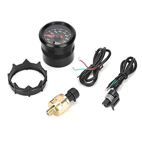 Indicador de Presión de Aceite, Indicador Digital de 2 Pulgadas y 52 mm Indicador de Indicador de Presión de Aceite con Motor Paso a Paso