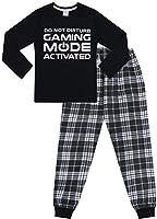 The PyjamaFactory Brand Do Not Disturb Gaming Mode Activated Woven Long Pyjamas