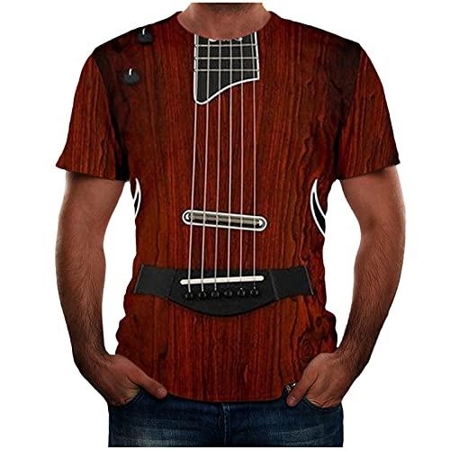 Camiseta de manga corta para hombre con impresión 3D, para verano, corte ajustado, básico.