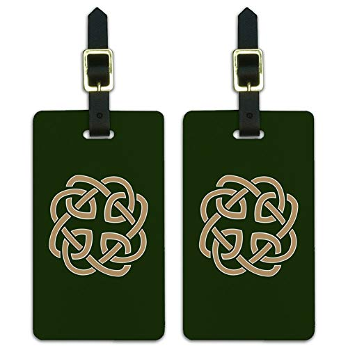 Celtic Knot Love Eternity Luggage ID Tags Suitcase Carry-On Cards - Set of 2