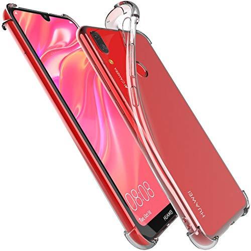 ebestStar - kompatibel mit Huawei Y7 2019 Hülle Y7 Prime/Pro Premium Flex Silikongel Handyhülle, Klar TPU Schutzhülle, verstärkten Rändern & Ecken, Transparent [Y7 2019: 158.9x76.9x8.1mm, 6.26'']