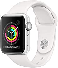AppleWatch Series3 (GPS, 38mm) - Silver Aluminum Case with White Sport Band (Renewed)