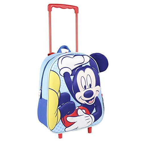CERDA Mochila Carro Infantil 3D Aplicaciones Mickey,...