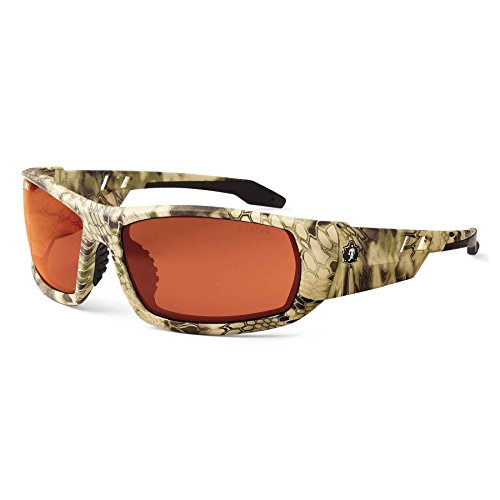 Skullerz Odin Polarized Safety Sunglasses - Kryptek Highlander Frame, Copper Lens