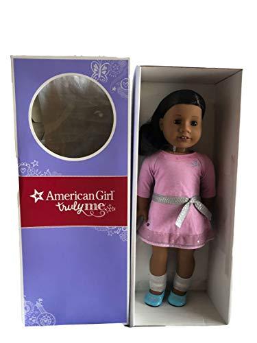 American Girl Truly Me Doll: Pelle scura, Capelli castani, Occhi marroni, Lilla Abito DN31