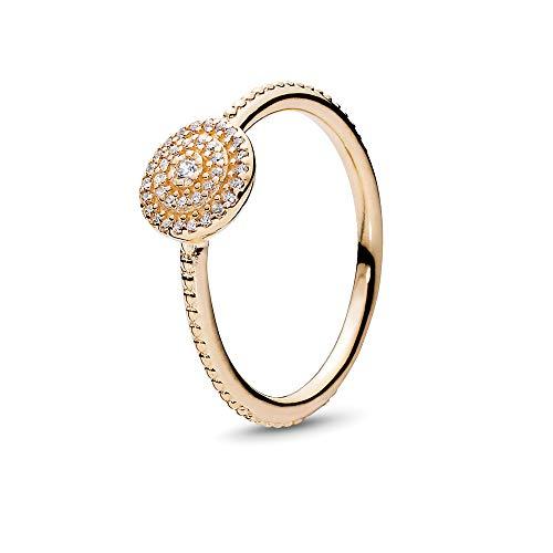 Pandora 150184CZ Women's Ring Brilliant Elegance 585 White Gold Zirconia Silver Gold