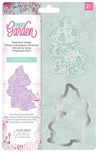 Natures Garden Crafter's Companion Fairy Garden-stempel en vliegenzwam-dorf, verschillende motieven