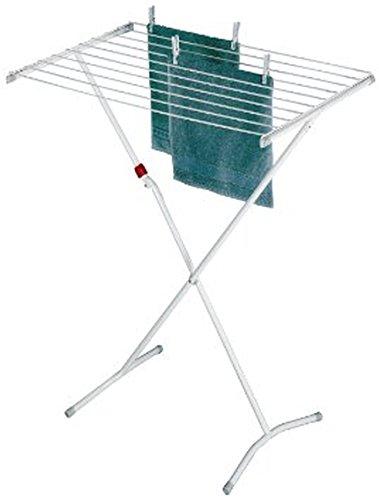 Leifheit Standtrockner Classic 80 Easy, schmaler Wäscheständer mit 8 m Trockenlänge, standfester Trockenständer mit Kindersicherung und Fußkappen