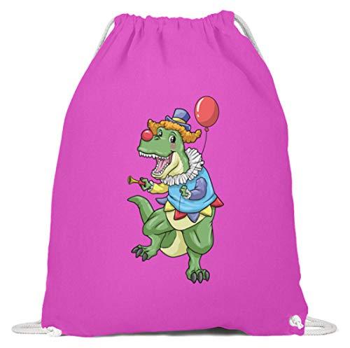 generisch T-Rex Clown Kostüm Karneval Kinder Zirkus Dinosaurier Turnbeutel Clown - Baumwoll Gymsac -37cm-46cm-Fuchsia