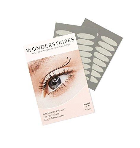Wonderstripes Augenlid Pflaster, transparent, Größe M
