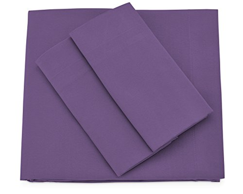 Cosy House Collection Premium Bamboo Sheets - Deep Pocket Bed Sheet Set - Ultra Soft & Cool Bedding - Hypoallergenic Blend from Natural Bamboo Fiber - 4 Piece - King, Purple
