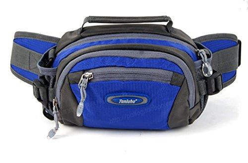 ZYT Plein air voyage multifonction de poche poches sac vélo course sport hommes et femmes . days blue