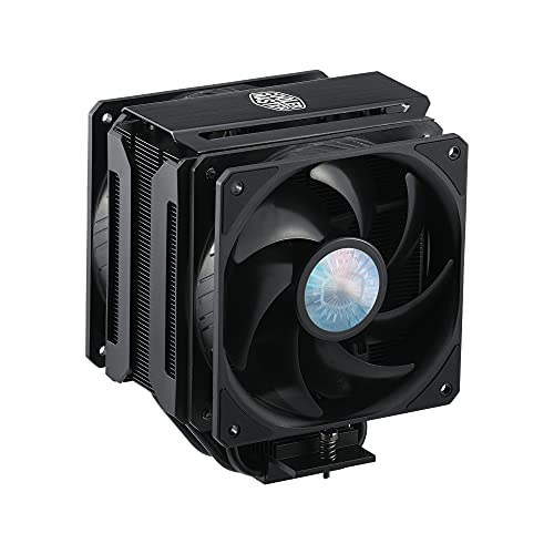Cooler MasterMasterAirMA612 StealthDisipadordeCPU:VentiladoresPushPullSickleFlow120 V2, Array 6 Heat Pipes, EspacioIlimitadopara RAM,AcabadoNegro Mate,CompatibilidadSocket Universal