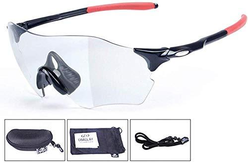 HZY Colori Intelligenti Occhiali da Sole Trasparenti Pesca Sci Campeggio All'aperto in The Wild Ride,B