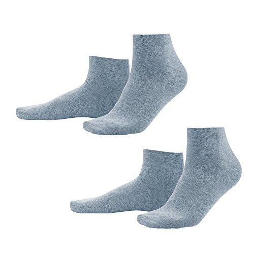 Living Crafts Sneaker-Socken, 2er-Pack 39-42, infinity blue