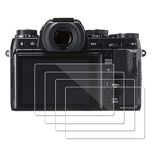 (4 Piezas) OOTSR Protector de Pantalla para Fujifilm X-T1 X-T2 XA3 XA5 XA10, Protector de Vidrio Templado para Fujifilm XA3 XA5 XA10 X-T1 X-T2 [Alta definición]