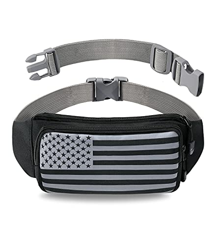 Fanny Pack for Men , Women and Kids - Long Adjustable Strap can be used as Waist Bag, Crossbody Bag or Running Belt - Water Resistant - Fashionable Belt Bag for Jogging, Hiking, Travel & Everyday Use!