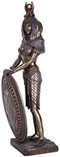 Pacific Giftware Standing Isis Statue Egyptian Goddess Bronze Finish