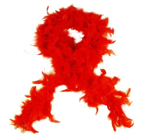 HAAC - Boa di piume Boa di colore arancione, 180 cm, per carnevale e feste