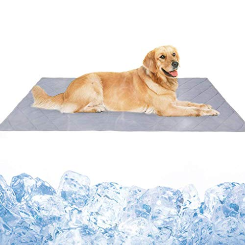 CHENGL Dog Kühldecke Matte, für Floor, Zwinger, Kisten, Betten, Sommer Hundebett Matten, High-Tech-Faser, weiche Breath Reversible Maschine waschbar
