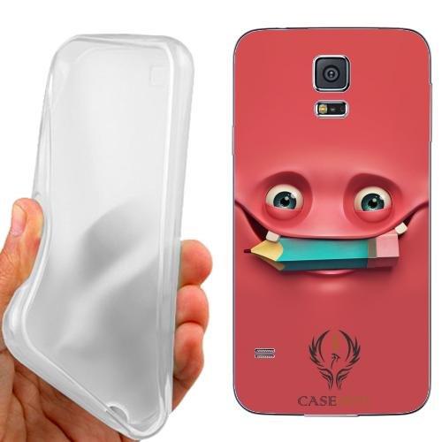 Custodia Cover Case Happy Face per Samsung Galaxy S5 Plus G901F