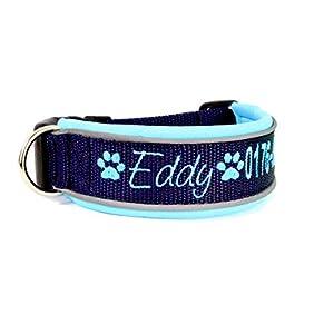 Hund&Hals – Halsband 1.0 – Hundehalsband mit Namen und Telefonnummer Gurtband, große Farbauswahl