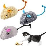 3 piezas de juguete ratones gateros ratones gateros ratones gato lindo masticar dientes y limpieza realista Catnip ratón peluche juguetes imitadores ratón catnip gato, 3 estilos