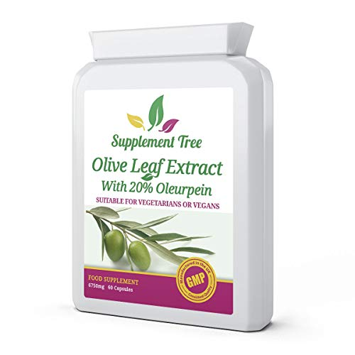 Olive Leaf Extract 6750mg 60 Capsules - High Strength Active Oleuropein Supplement - UK Manufactured GMP Guaranteed Quality