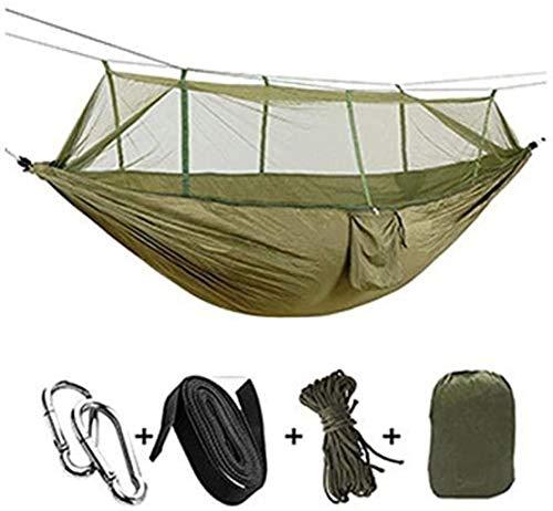 Portátil Mosquitera Hamaca 1-2 Persona portátil de Camping al Aire Libre Hamaca con Mosquitera...