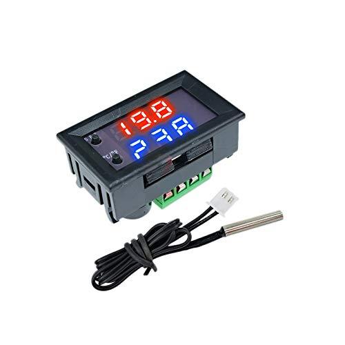 Heritan Termostato Controlador Digital de Temperatura y Humedad con Pantalla LCD Regulador TéRmico 12V Termopar