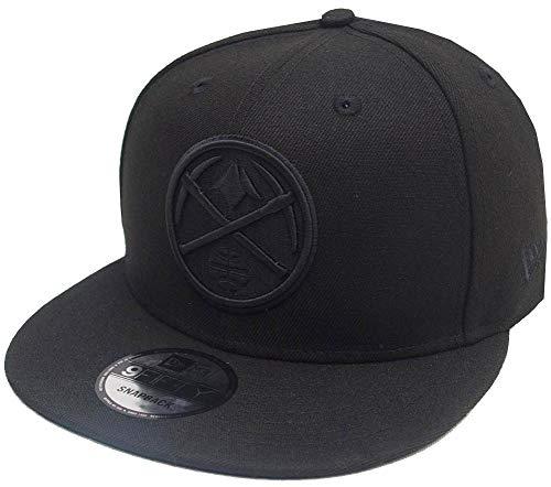 New Era Denver Nuggets Black On Black NBA Snapback Cap 9fifty 950 OSFA Exclusive Limited Edition