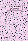 Daily Planner Notebook: Terrazzo-seamless-pattern-rock Light Pink Background Cover, Everyday Calendar, Daily Notepad, Read