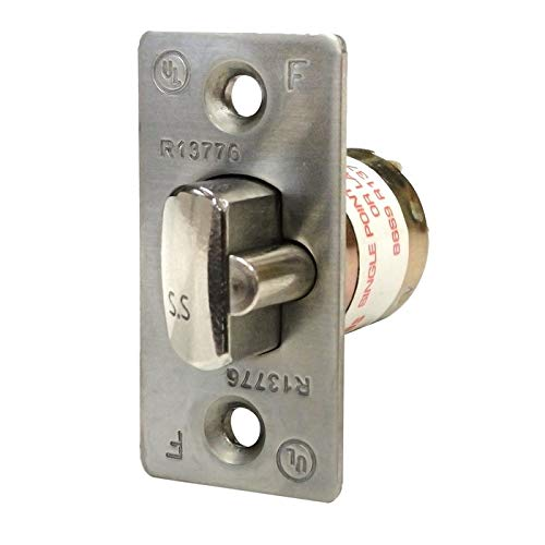 Deltana G1RLE238 Grade 1 Commercial Entry Latch from the Pro Series, Brushed Chrome