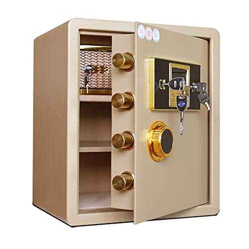 CLING Contraseña electrónica Mini Caja Fuerte de Seguridad Digital antirrobo Inteligente antirrobo para la Oficina en casa Bloqueo de Llave de Seguridad Doble y Cajas Fuertes de contraseña