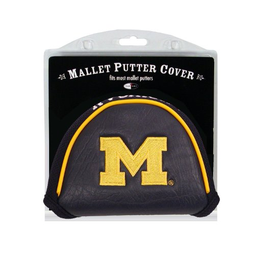 Team Golf NCAA Golf Club Mallet Putter Headcover, Fits Most Mallet Putters, Scotty Cameron, Daddy Long Legs, Taylormade, Odyssey, Titleist, Ping, Callaway, Michigan Wolverines