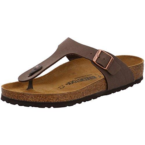Birkenstock Women's Gizeh Thong Sandal, Mocha Birkibuc, 37 R EU, 6-6.5 M US