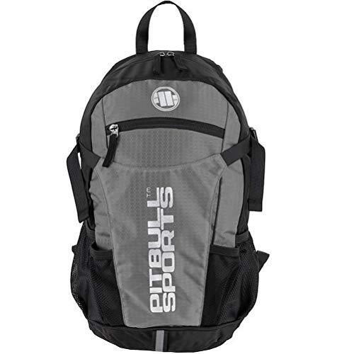 Pit Bull West Coast Trekking Rucksack PB Sports Grau - Backpack für Wandern und Sport mit Regenponcho