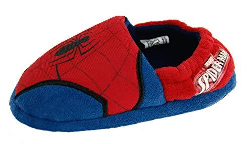 Kids Boys Ultimate Spiderman Slippers Logo , Spiderman - Logo, 9 UK Chil
