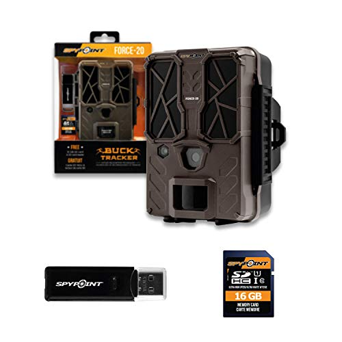 Spypoint Force 20 Wildkamera 20 Megapixel Low-Glow-LEDs, Zeitrafferfunktion Camouflage