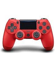 Controller di gioco PS4, controller di gioco Gamepad ad alte prestazioni con funzione audio a doppia vibrazione, per Playstation 4 con cavo USB Compatibile con PC Windows-Rosso