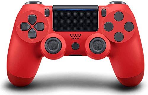 Controller di gioco PS4, controller di gioco Gamepad ad alte prestazioni con funzione audio a doppia vibrazione, per Sony Playstation 4 con cavo USB Compatibile con PC Windows e Android iOS-Rosso