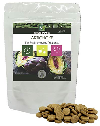 Artichoke / 90 Tablets of 540mg / NAKURU Balance/Dried and Cold Compressed Powder/Analysed and Packaged in France /' The Mediterranean Treasure !'