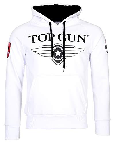 Top Gun Herren Sweatshirt Kapuzenpullover TG2019-1012 (XL, White)