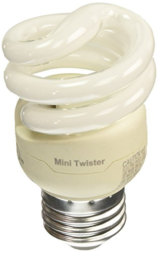Philips LED 417063 Energy Saver Compact Fluorescent T2 Mini-Twister (A19 Replacement) Household Light Bulb: 2700-Kelvin, 9-Watt (40-Watt Equivalent), E26 Medium Screw Base, Soft White, 4-Pack