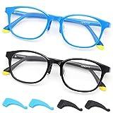 Gaoye 2 Pack Kids Blue Light Blocking Glasses, Cute Fake Eyeglasses Frame Anti Eye Strain Computer Gaming Glasses for Girls Boys Age 3-12