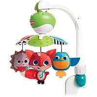 Tiny Love Take-Along Mobile Carrousel cuna bebé y movil coche bebé 2 en 1, Acople universal, 30 minutos de musica 5 melodías, Meadow Days