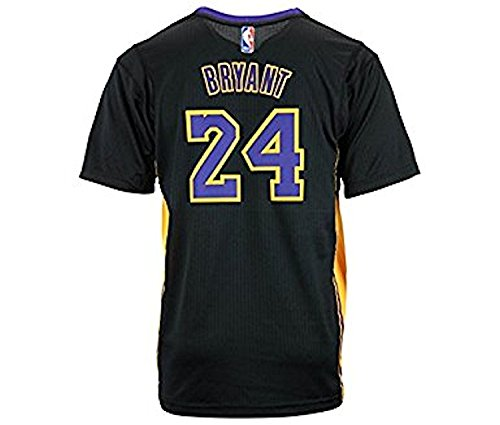 adidas Boys Kobe Bryant Los Angeles Lakers Pride Youth 8-20 Swingman Jersey (Youth Small) Black